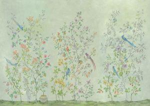 Mural Tea Garden Green