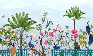 Mural Neo-Tea Garden Blue