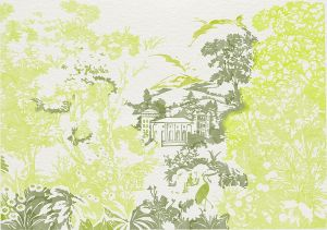 Mural Neo-Tapestry Lime