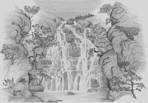 Mural Fallingwater Winter