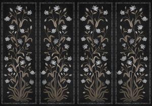 Mural Daffodils Black
