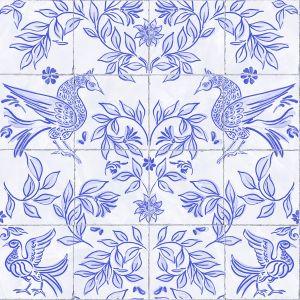 Papel pintado Cerâmica Blue