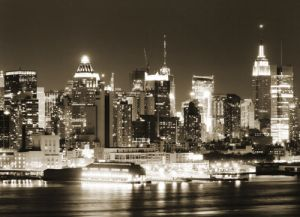 Mural NY Luces Noche