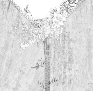 Mural Cremallera con Flores