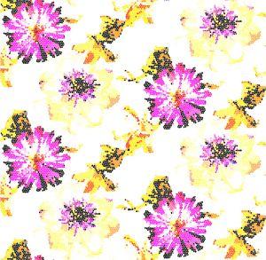 Mural Flores de Cuadros Rosa
