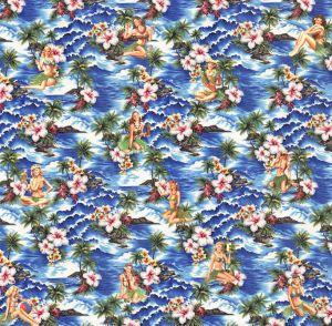 Mural Hawái azul