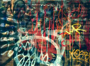 Mural Persiana Graffiti