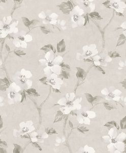 Papel pintado Helen´s Flower Grey