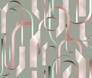 Papel pintado Arch Pink/Green