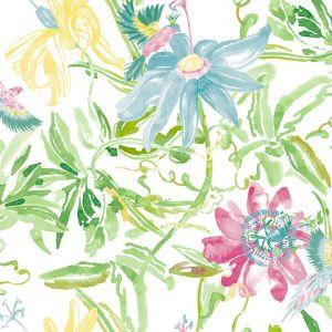 Papel flor verde amarillo lila