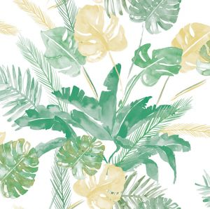 Papel jungla hojas verde