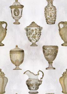 Papel pintado Porcelaine Bronze
