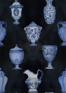 Papel pintado Porcelaine Marine