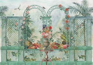 Mural Treillage Bloom