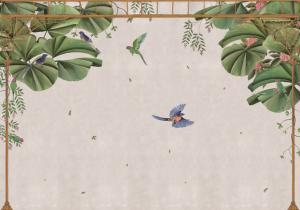Mural Temple Swan