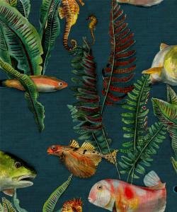 Papel pintado Bank of Fish Lagoon