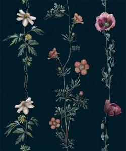 Papel pintado Climbing Flowers Marine