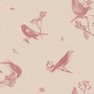 Papel pintado Sweet Birds Rose