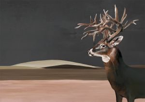Mural Great Deer Nude