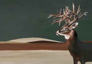 Mural Great Deer Green