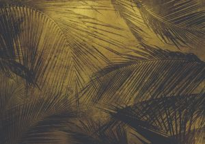 Mural Palms Extra Gold