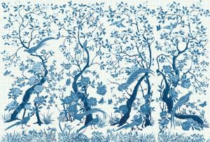 Mural Chinoiserie White