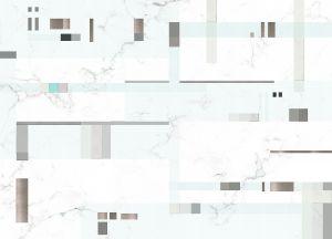Mural Pixels Grey/Blue