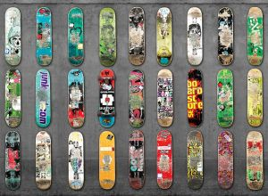 Mural Skateboard Gris