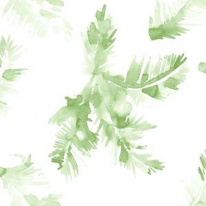 Papel hoja palmera verde