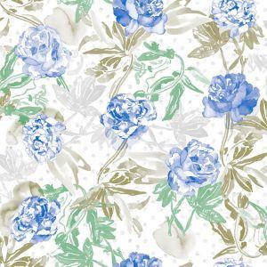 Papel rosas azul