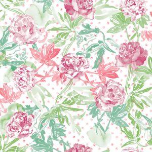 Papel rosas verde rojo