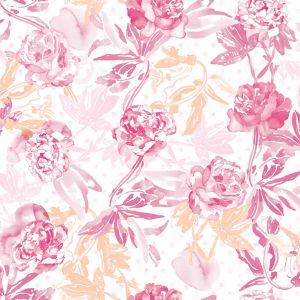 Papel rosas lila