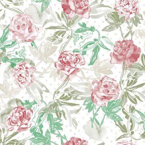 Papel rosas vino verde