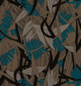Papel pintado Prosa Brown/Blue