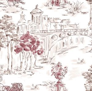 Papel pintado Paisaje Ciruela
