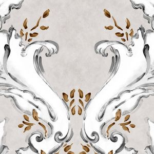 Papel pintado Ornamental Plata