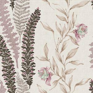 Papel pintado Floral Ciruela