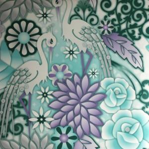 Catalina Estrada Wallpaper Heron Aqua