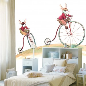 Bunny Cycling Mural