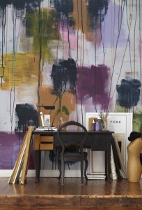 Abstract painting mural