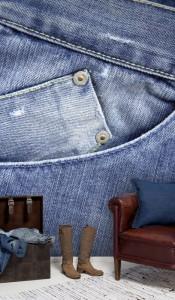 jeans mural