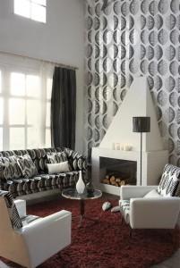 Bagheera black & white wallpaper