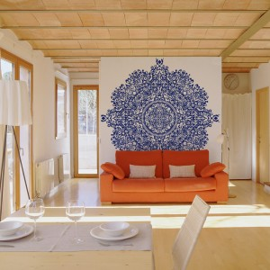 Felineses Icon Blue Mural