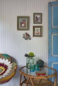 Pin Stripe Turquoise wallpaper