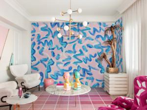 Mural Brush Pink/Blue