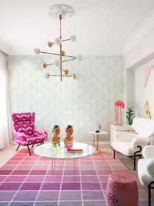 Iridiscent Pink wallpaper