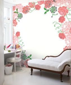 Stiched Roses Mural