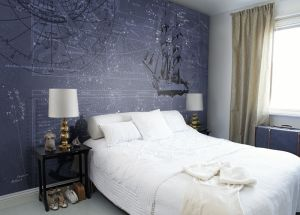 Blue Constellations Mural