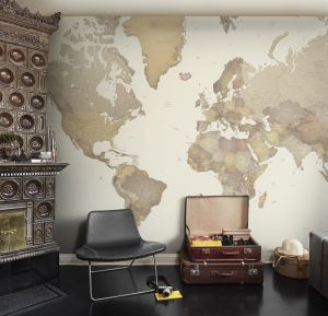 World Map Mural 1