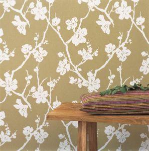 Lotus Chocolate Brown Wallpaper